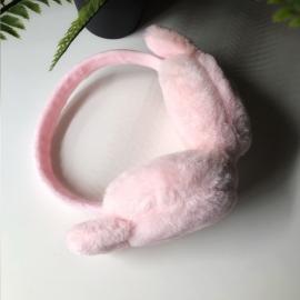 غطاء اذن قطن اطفال ارنوب زهري