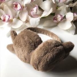 غطاء اذن قطن للأطفال ارنوب بني